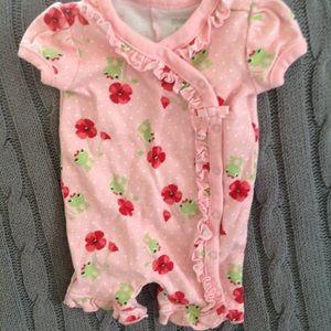 Pink frog bodysuit